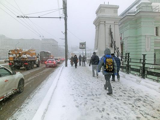 На Центральную Россию надвигаются снегопады