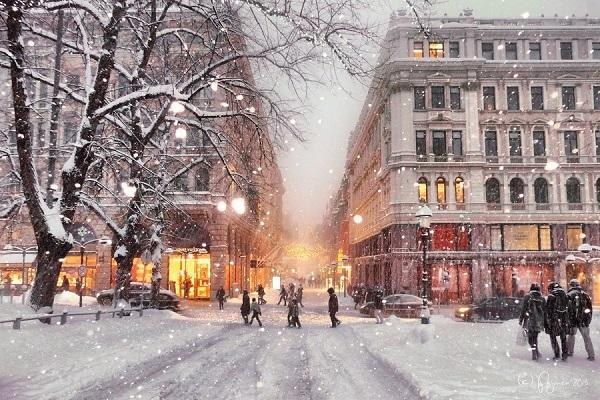 В течение выходных во многих областях Украины наблюдались снегопады