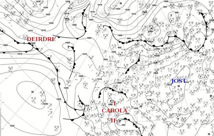Циклон Карола стал причиной ухудшения погоды в Украине