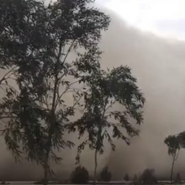 Сильна піщана буря обрушилася на Єгипет