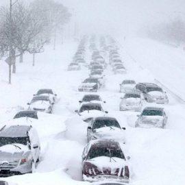 Шторми та снігопади в центральній частині США