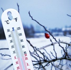 На выходных в Украину прийдет -10ºС мороз